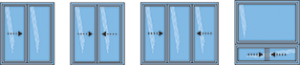 Fenêtres coulissantes hybrides : modèles
