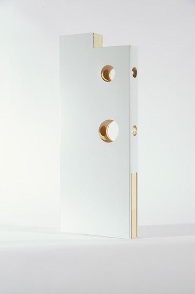 Détail de la confection intérieure d'une porte