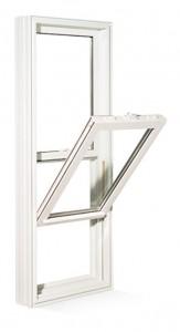 Utilisation de fenêtre à guillotine en PVC