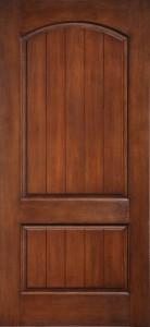 Porte en fibre de verre, imitation de bois