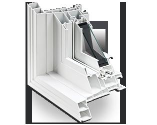 Détail de la conception multichambre du volet d'une chambre à guillotine